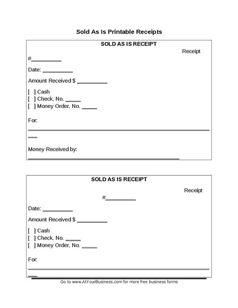 sell as is receipt template receipts template search results calendar 2015