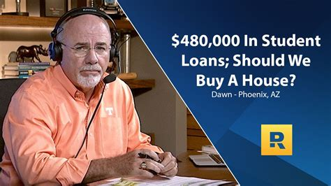 buying a house dave ramsey 480 000 in student loans should we buy a house youtube