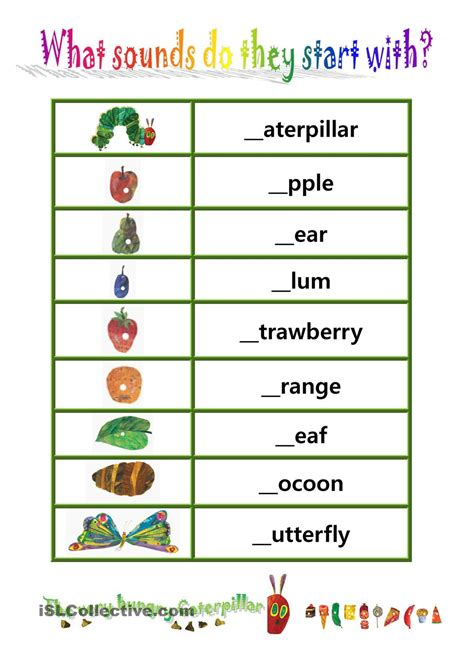 5 Letter Words Hungry phionics beginning sound with quot the hungry caterpillar