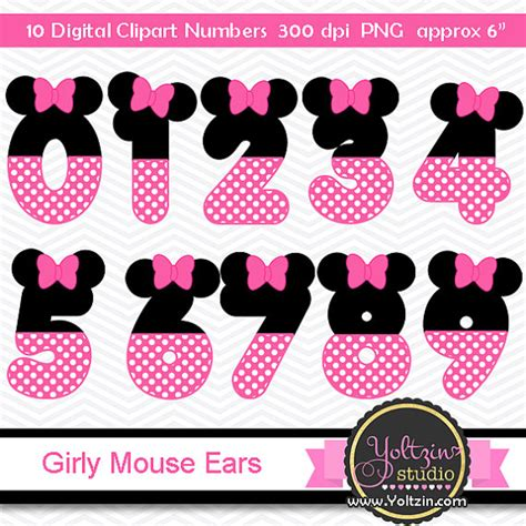 Kalkulator Polkadot Character Hello 8 Digits minnie mouse clipart numbers ears pink black age digital clip