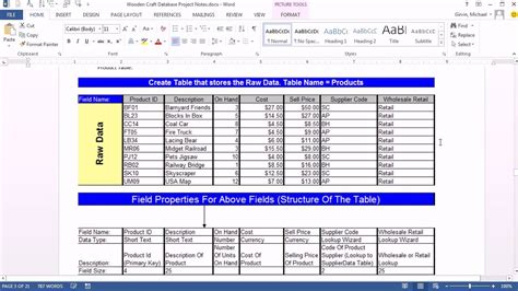 database design for manufacturing office 2013 class 47 access 2013 create database import