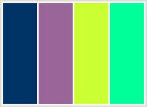 Colors That Go With Pink by Colorcombo24 With Hex Colors 003366 996699 Ccff33 00ff99