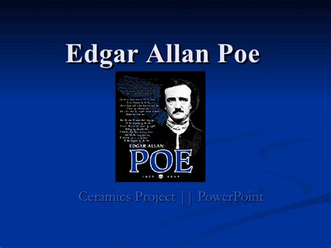 edgar allan poe biography project edgar allan poe