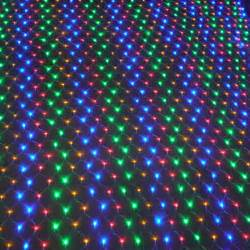 led christmas lights outdoor waterproof net string lights