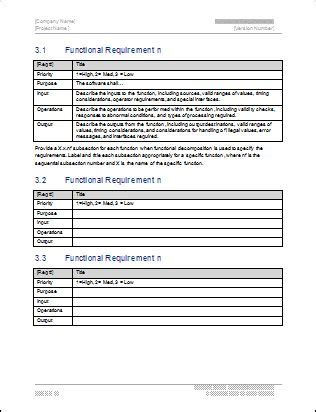 software business requirements document template functional requirements template carpool