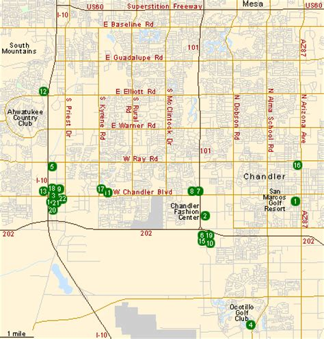 map of chandler arizona chandler az map