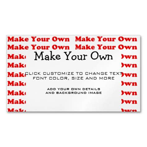 make own card make your own personalized business card magnet zazzle