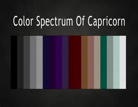 colors of the zodiac color spectrum of capricorn capricorn pinterest sun
