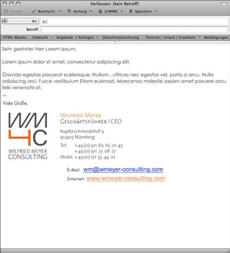 Email Design Vorlage Die Grafische Gestaltung Signaturen In Gesch 228 Ftlichen E Mails Werbeagentur Wildner