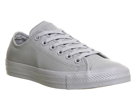 Converse Grey White womens converse all low leather grey mono exclusive
