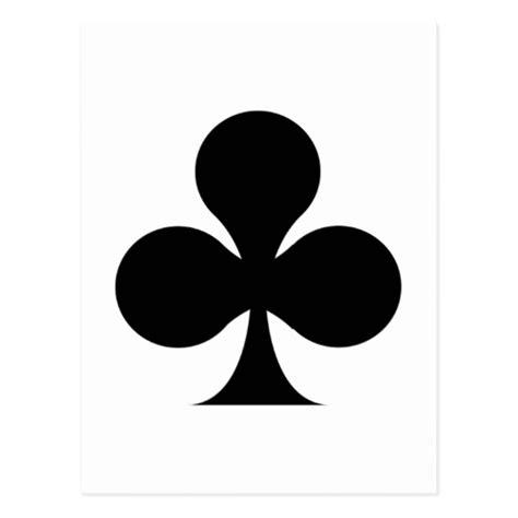 card club club symbol postcard zazzle