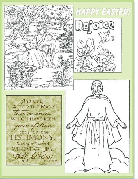 lds coloring pages for easter lds easter coloring page primary newsletter ideas