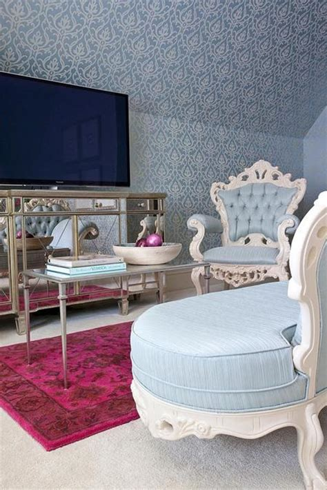 light blue and red bedroom chic bedroom decorating ideas enhancing classic style with