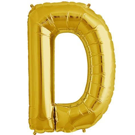 Gold Foil Balloon B 34 quot gold letter d foil balloon