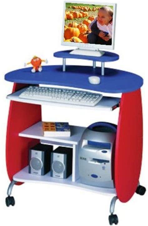 Techni Mobili Space Saver Computer Desk Techni Mobili Rta Q203rwb Kid S White And Blue Compact Computer Desk Space Saving Compact