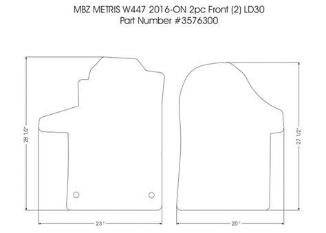 Discounted Floor Mats For Mercedes Metris Cargo Vans - 2 front rubber mat set for 2016 2018 mercedes