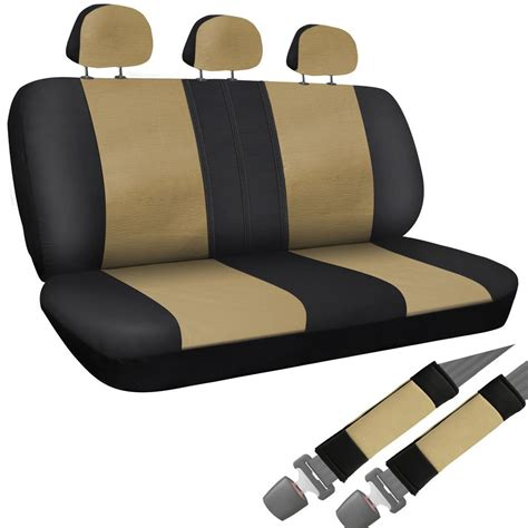 suv bench seat covers suv seat covers for ford expedition 8pc bench set tan black faux leather