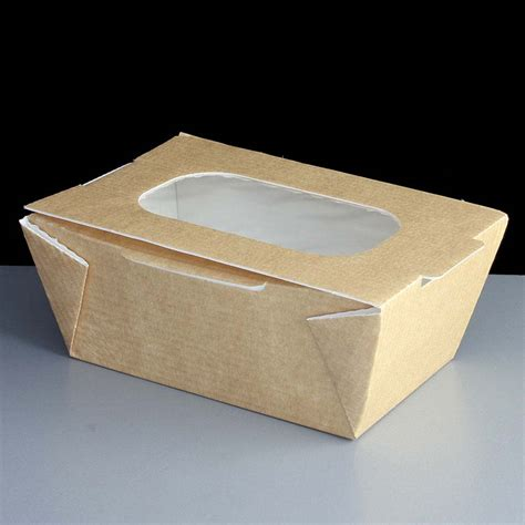 small food small food to go boxes brown with window 26oz