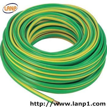single copper wire yellow green 16mm grounding cable