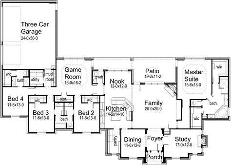 House Plans With Game Room | s3298l texas house plans over 700 proven home designs