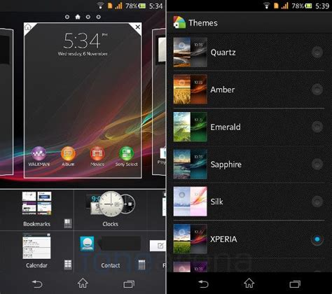 sony themes apps xperia z lost pre installed themes and some apps support