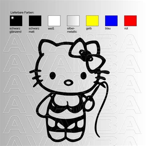 Aufkleber Fürs Auto Hello Kitty by Hello Domina Kitty Autoaufkleber Autosticker Avamba