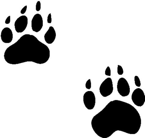 draw tiger paw print cliparts