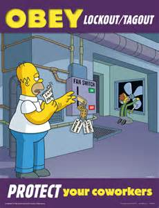 the simpsons safety posters graphic products