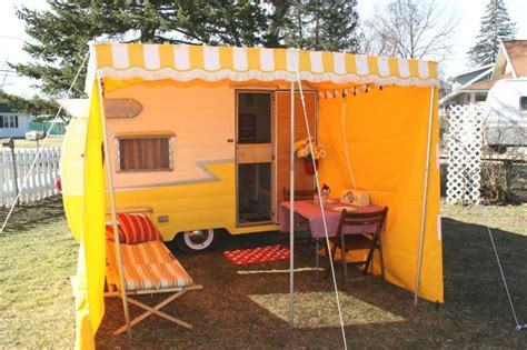 rv awning add a room 1133 best images about vintage trailers on pinterest