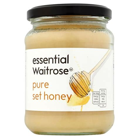Honey Set by Essential Waitrose Set Honey 454g From Ocado