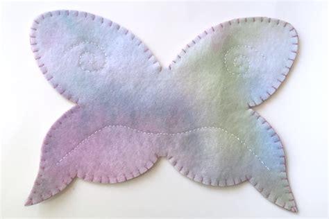 Felt Wings Pattern   felt butterfly tutorial felt with love designs