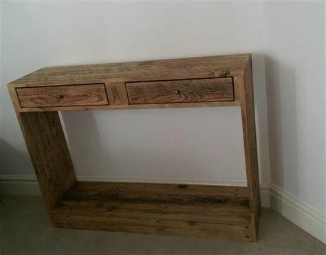 Pallet Console Table Pallet Occasional Console Table Pallet Furniture Diy