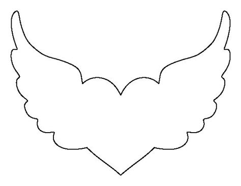 angel wing cut out template crafts the o jays and wings
