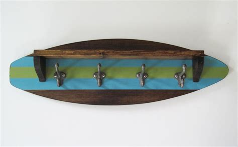 surfboard shelf coat rack the project cottage