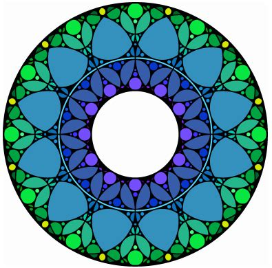 art design in circle pixel art gothic circle patterns and first past the post