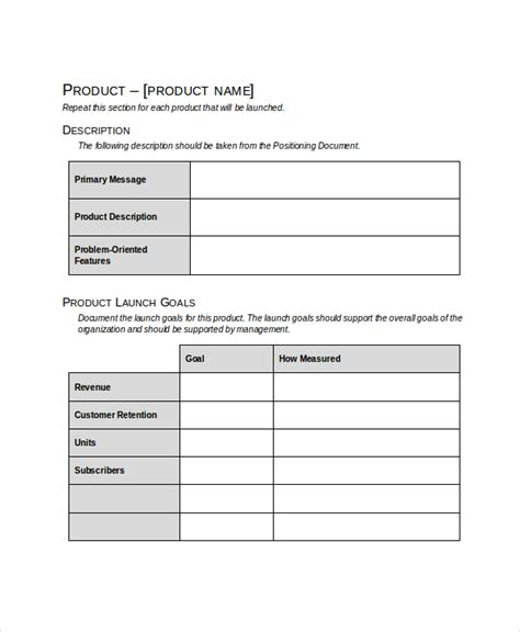 product marketing template product launch plan template 8 free word pdf document