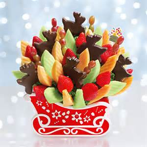 Christmas Sleigh Centerpieces by Edible Arrangements Christmas Baskets Who Said Nothing