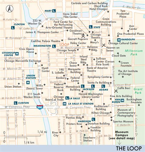 chicago map of the loop map of the loop including west loop and south loop the