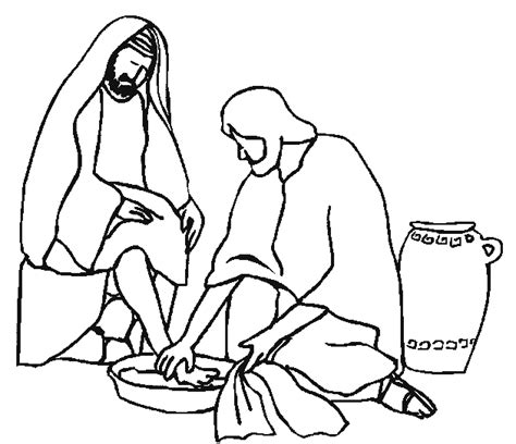 washing coloring sheets jesus washing disciples coloring pages