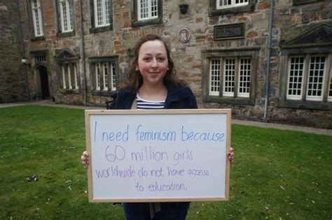 st andrews tells the world quot we need feminism quot
