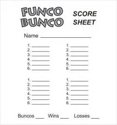 bunco score sheets template 10 download documents in