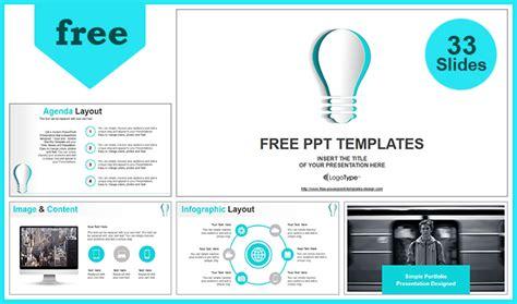 Paper Idea Bulb Powerpoint Template Paperpresentation Templates