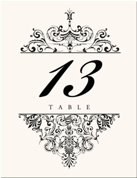 Wedding Table Numbers Vintage Table Number Designs Vintage Table Cards Vintage Wedding Logos Vintage Table Numbers Template