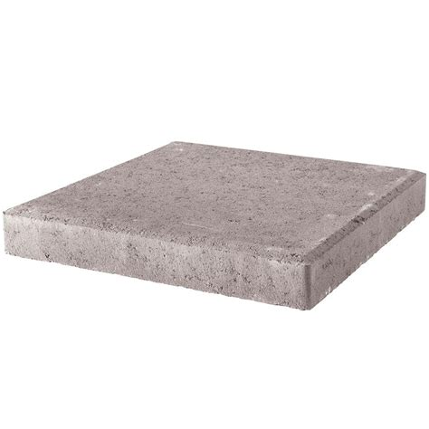 16x16 patio pavers home depot pavestone 24 in x 24 in pewter concrete step 73700