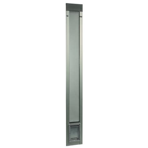 Fast Fit Patio Pet Door Ideal Pet Fast Fit Pet Patio Door Small Silver Frame 75 To 77 3 4 Inches