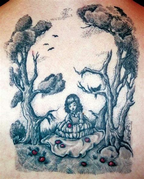 girl tattoo form forms of skulls design trees ink