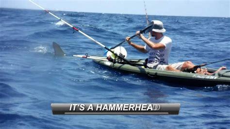 giant squid attacks fishing boat hammerhead shark attacks kayak fisherman youtube