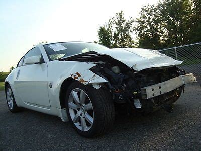 2006 nissan 350z 6 speed manual salvage rebuildable for sale purchase used nissan 350z 6spd salvage rebuildable repairable wrecked project damaged fixer in
