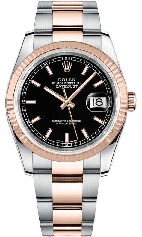Rolex Oyster Perpetual Date Just Glw rolex datejust 116231 gold steel black index