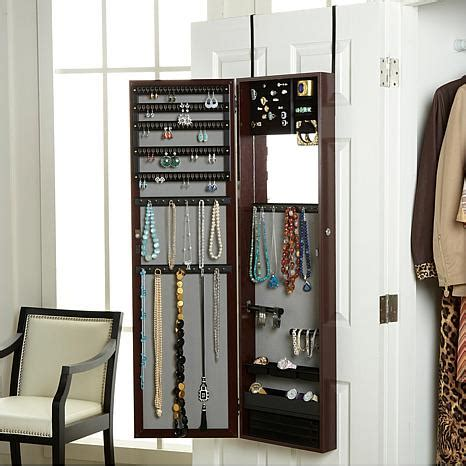 jewelry armoire over the door over the door jewelry armoire with full length mirror 1793084 hsn